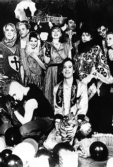 Stirling and friends in an ad for Liedernacht (originally appearing in Metro Times in February 1985).