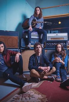 Greta Van Fleet, from left: Danny Wagner and brothers Jake, Josh, and Sam Kiszka.