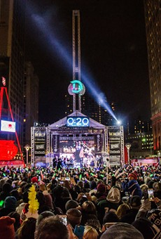 """The Drop"" when it was last held at Campus Martius Park."