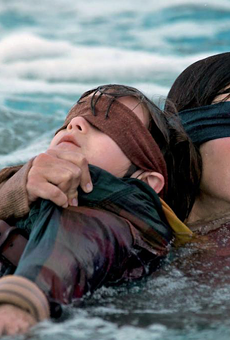 Sandra Bullock in Netflix's Bird Box, based on Josh Malerman's novel.