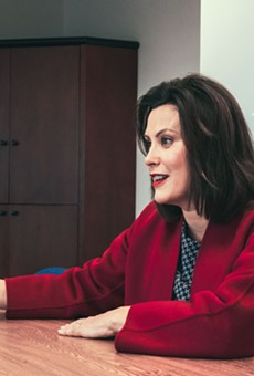 Gretchen Whitmer at her Detroit campaign office.