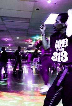 Skaters at a recent adult night at Royal Skate Land.