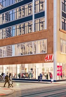 H&M will span three Albert Kahn designed buildings