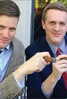 White supremacist Richard Spencer and alt-right attorney Kyle Bristow.