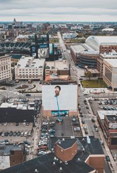 Detroit's Stevie Wonder mural is coming along nicely