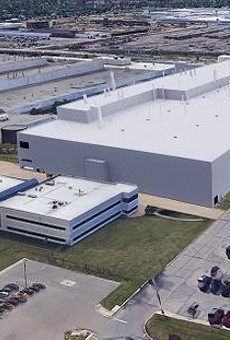 Rendering of the proposed new Fiat Chrysler Automobiles assembly plant.