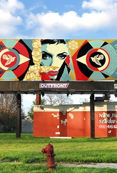 Street artist Shepard Fairey put up more artwork around Detroit — only this time it's legal