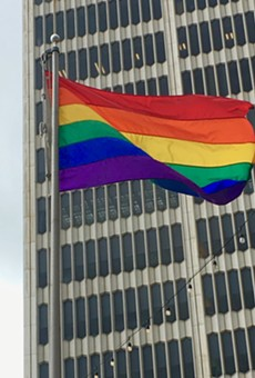 Detroit officials raise rainbow flag over Spirit Plaza in honor of Pride Month