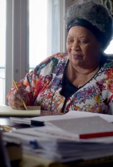 Toni Morrison at work.