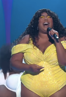 Lizzo during her VMA performance Monday night.
