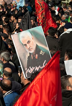 Photo from the funeral of Qassem Soleimani in Tehran.