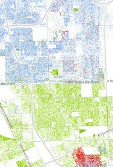 For readers of Wired, this is damning imagery of our region, showing high levels of segregation.
