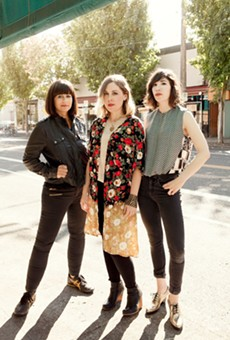 From left: Sleater-Kinney are Janet Weiss, Corin Tucker, and Carrie Brownstein.