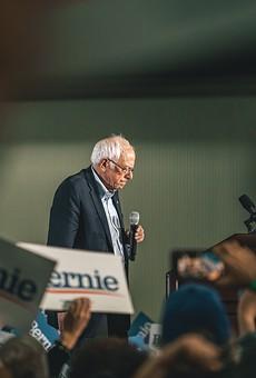 Sen. Bernie Sanders at a Detroit rally.