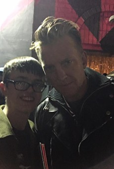 Selfie by the author with Josh Homme.