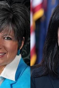 Longtime public relations guru Kelly Rossman-McKinney, left, is communications director for Attorney General Dana Nessel, right.