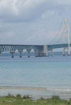 The Enbridge Line 5 replacement pipeline would be buried beneath the Straits of Mackinac.