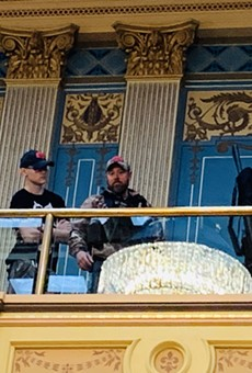 Armed protesters stormed the Michigan Capitol Building last month.