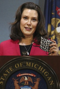 Gov. Gretchen Whitmer at a news conference Thursday.