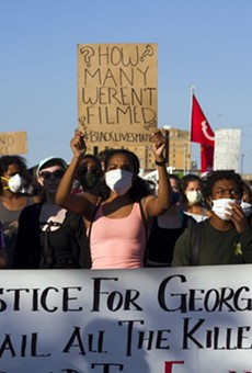 Protesters in Detroit demanding justice for George Floyd and others in the Black community who have died in the hands of police.