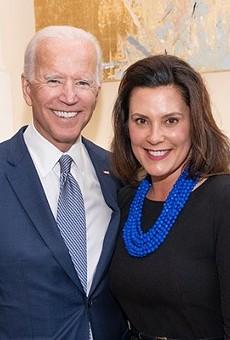 Joe Biden with Gov. Gretchen Whitmer.