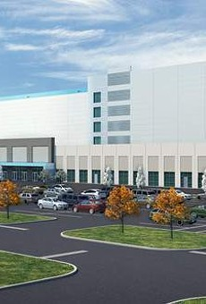 Rendering of Amazon distribution center.