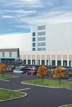 Rendering of Amazon distribution center.
