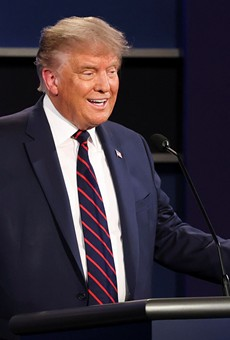 President Donald Trump during the first presidential debate.