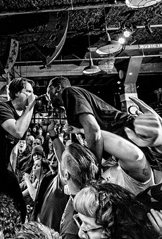 Fueled by Burger Thang: Detroit hardcore favorites Negative Approach play a raucous show at Third Man Records in 2016.