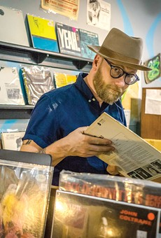 Mike Doughty in Memphis, at the fabulous Goner Records.