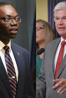 Lt. Governor Garlin Gilchrist II, left, and state Sen. Mike Shirkey.