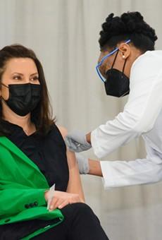 Gov. Whitmer got her second COVID-19 vaccine dose on Thursday, April 29.