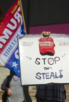 Trump supporters rallied in Detroit in November, claiming widespread election fraud.