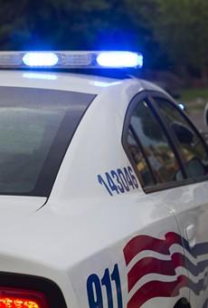 Detroit police squad car.
