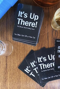 """The """"It's Up There!"""" drinking game tests players on all things Detroit culture."""