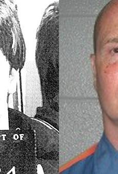 Richard Wershe Jr.'s mugshot circa 1987, left, and circa 2012, right.