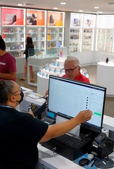 In-person sales at Cloud Cannabis' Utica location.