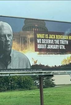 Billboards targeting U.S. Rep. Jack Bergman were installed in northern Michigan.