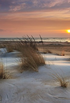 A sunrise along Lake Huron in Michigan.