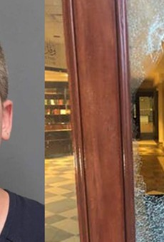 Ryan Lee Ahern, 33, of Rochester Hills, is accused of breaking glass in a door at the Ahmadiyya Muslim Community Center with a hammer.