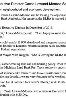 Head of Detroit Land Bank stepping down (2)