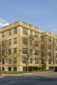 The 91-unit Sheridan Court Apartments on Second Ave. and W. Canfield St.
