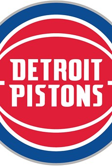 """The new Pistons logo that the team's chief marketing officer says """"celebrates the club's long-standing history."""""""