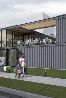 Shipping container restaurant collective, beer garden breaks ground this week in Cass Corridor