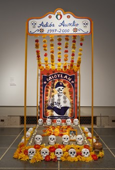 An ofrenda altar from last year's display at the DIA by Gabrielle and Juan Javier Pescador of Ann Arbor