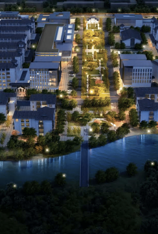 A rendering of the proposed International Village.