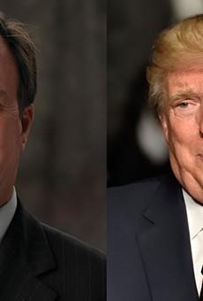 Michigan Attorney General Bill Schuette, President Donald Trump.