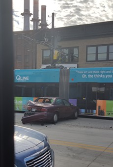 On Nov. 6 a DDOT bus hit a car, causing it to crash into the QLine. The streetcar was down for several hours.