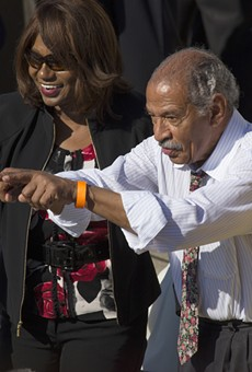 Michigan Congressman John Conyers at the 50th Anniversary of the march on Washington and Martin Luther King's I Have A Dream Speech, August 24, 2013, Lincoln Memorial, Washington, D.C.