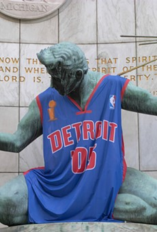 Under new rules, the Spirit of Detroit will be showing a lot less team spirit